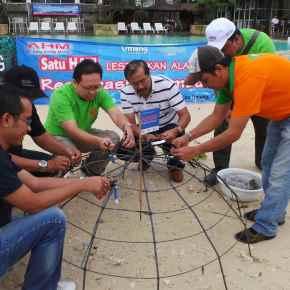 Peduli Lingkungan, AHM Restorasi Terumbu Karang di PulauUmang